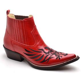 a2e83b2b01386 Meia Bota Bico Quadrado Brand Verniz - Sapatos no Mercado Livre Brasil