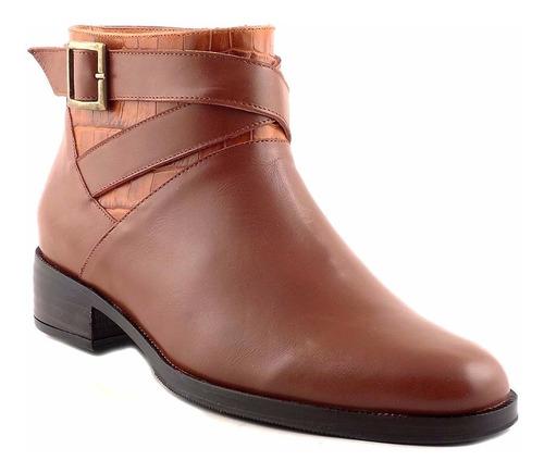 bota botineta de mujer briganti zapato cuero - mcbo24738