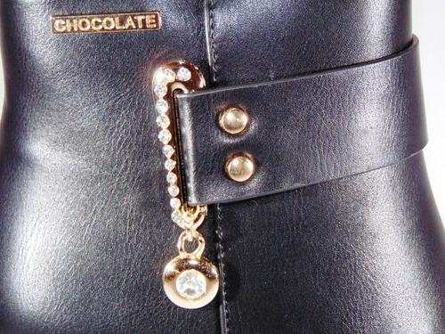 bota botineta exclusivas chocolate invierno 2018 art 717