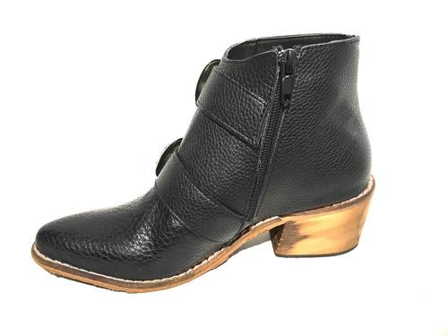 bota botineta texana mujer