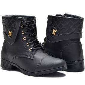 fb0fc50835 Botas Femininas Baixa - Sapatos no Mercado Livre Brasil
