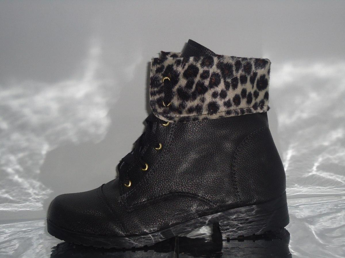 6183d5baa bota botinha coturno preta onça feminina oferta - 327. Carregando zoom.