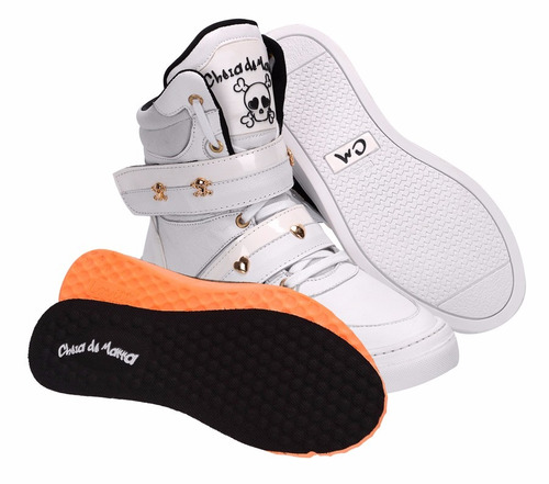 bota botinha sneakers academia treino couro cano alto fitnes