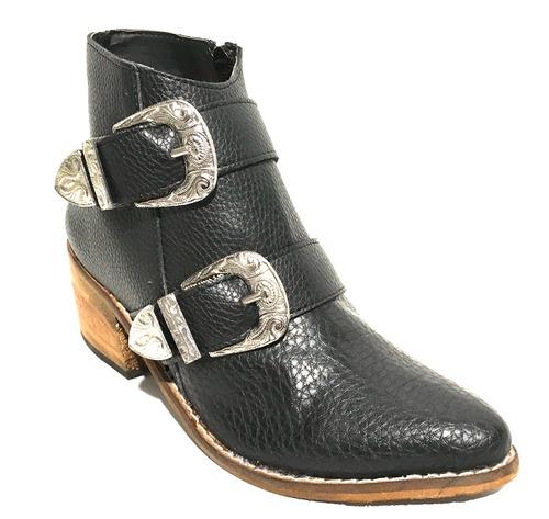 bota botita botineta texana charritos taco tejana mujer moda