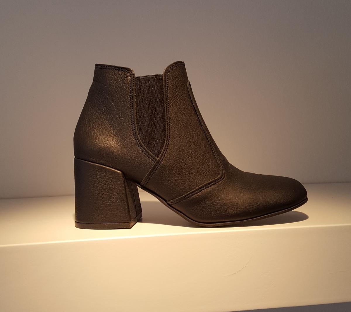 95c6c8205 Bota Botita Punta Cuadrada Cuero Elasticos Diafana Zapatos -   2.260 ...