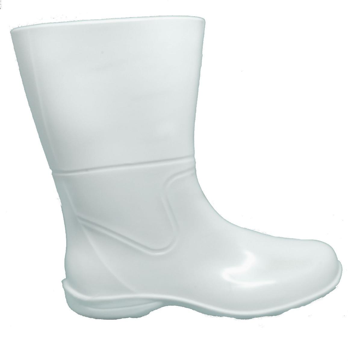 a368ff3b3e5 bota branca borracha galocha chuva feminina pat cano medio. Carregando zoom.