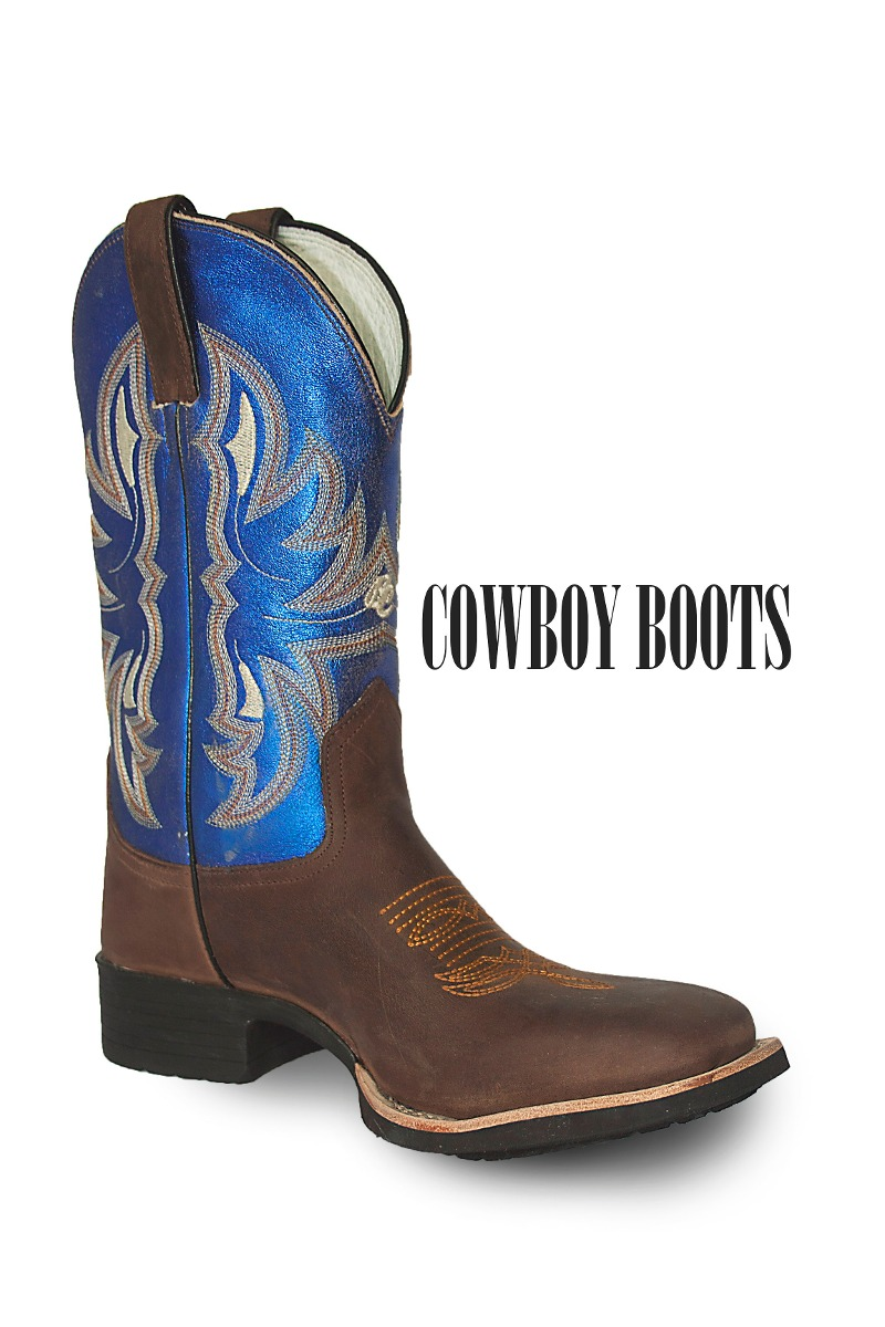 1dba4b0648f Bota Brazil Country Crazy Horse Cafe-np Steel Blue - R  419