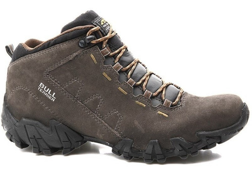 bota bull terrier ranger couro natural original - carbono