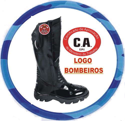 bota ( c a) militar moto cano longo bombeiro **12x s/ juros*