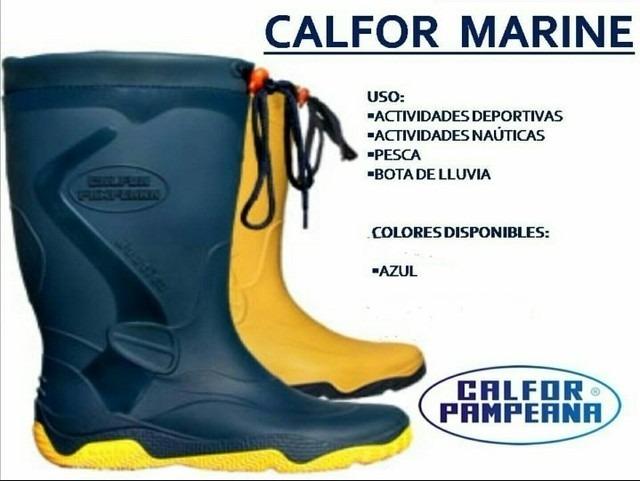 Bota Calfor Nautica Marine C cuello+talles 35 Al 38+cert.iso -   588 ... d3b7d4511a1d2