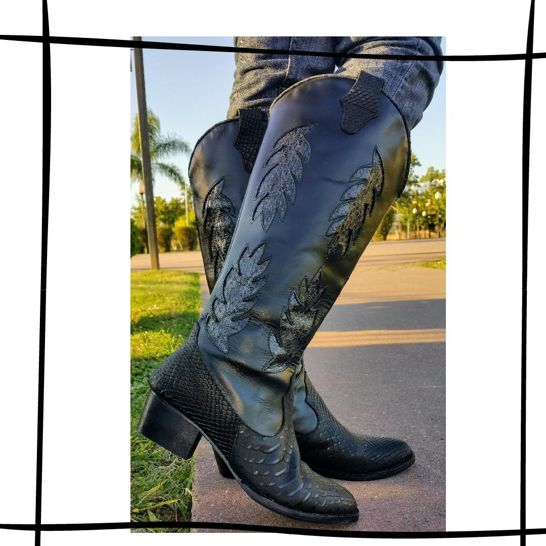 7b4a93d15 bota caña alta texana mujer- cuero vacuno 2019. Cargando zoom.