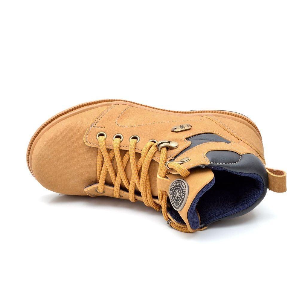 70e3873a076 bota cano alto infantil forkids em couro amarela. Carregando zoom.