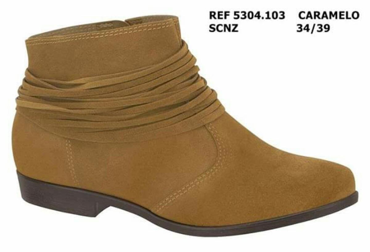 bfd7d189b bota cano curto ankle boot moleca camurça marrom caramelo. Carregando zoom.