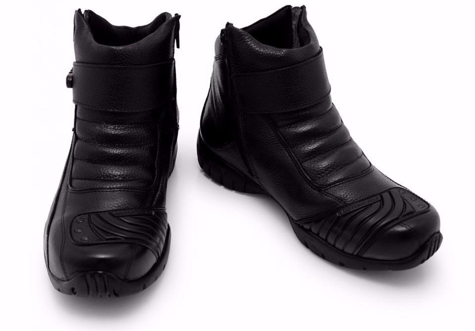 fce6f833ec4 bota cano curto atron shoes 271 - couro honda moto com zíper. Carregando  zoom.