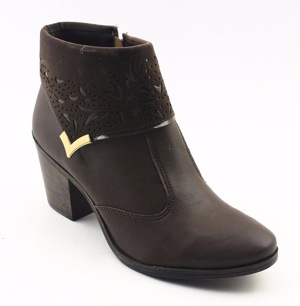 32e8195ac1 bota cano curto baixo com salto mississipi feminina 583220. Carregando zoom.