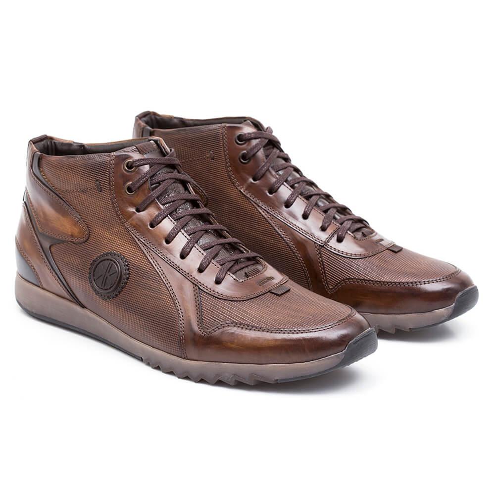 994ce8feb4 bota cano curto casual masculina marrom couro legítimo. Carregando zoom.