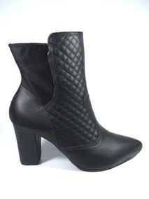 18cd87523 Bota Feminina Cano Curto Usaflex Feminino Botas - Sapatos no Mercado ...