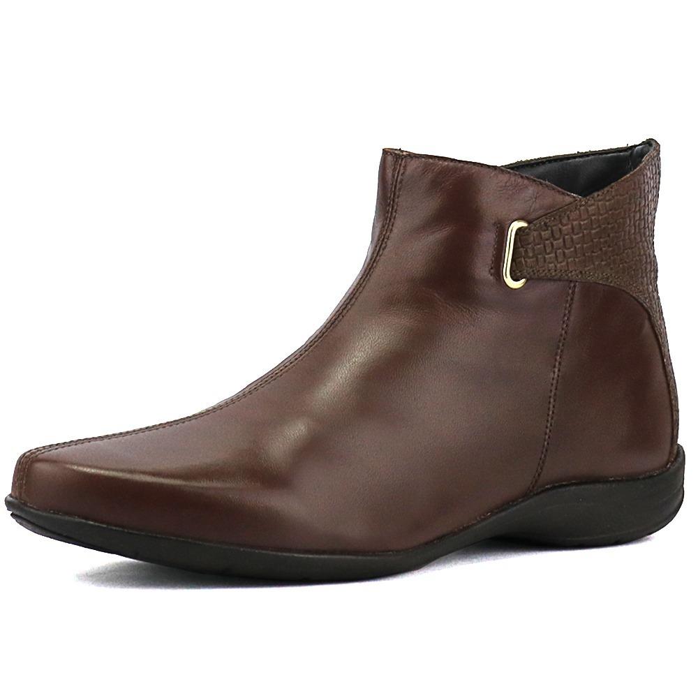 bota cano curto feminina couro legitimo ziper pronta entrega. Carregando  zoom. 0c5ae944f89d4