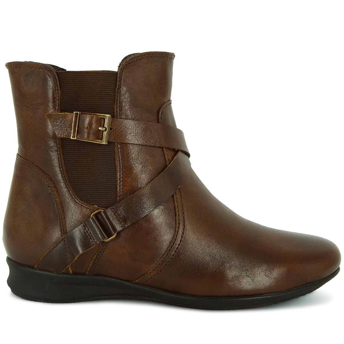 6268cc0f39 bota cano curto feminina em couro legitimo soft caramelo art. Carregando  zoom.