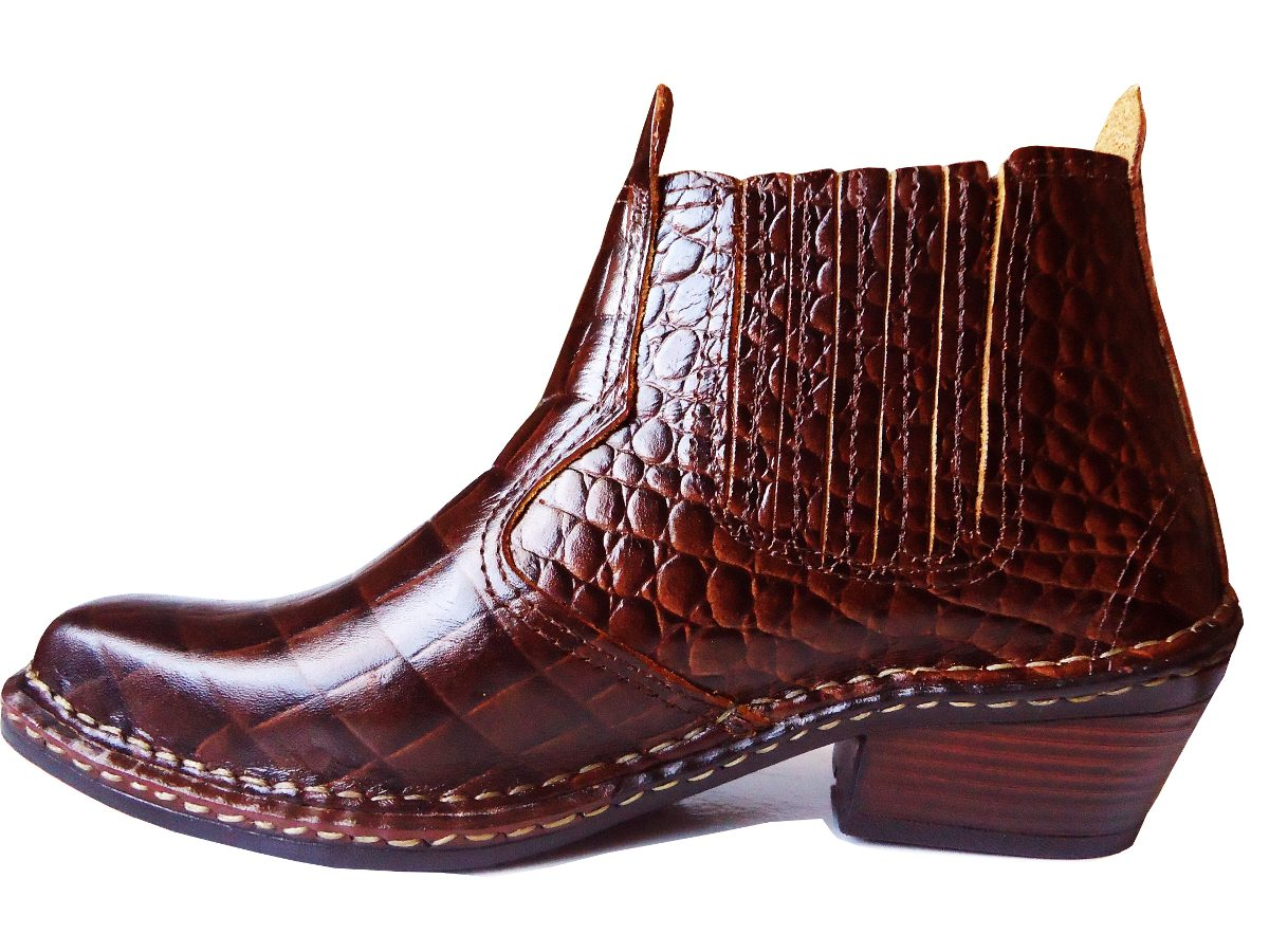... west country  cf94e4d774a bota cano curto feminina texana country  escamada croco. Carregando zoom. 17f804c7753