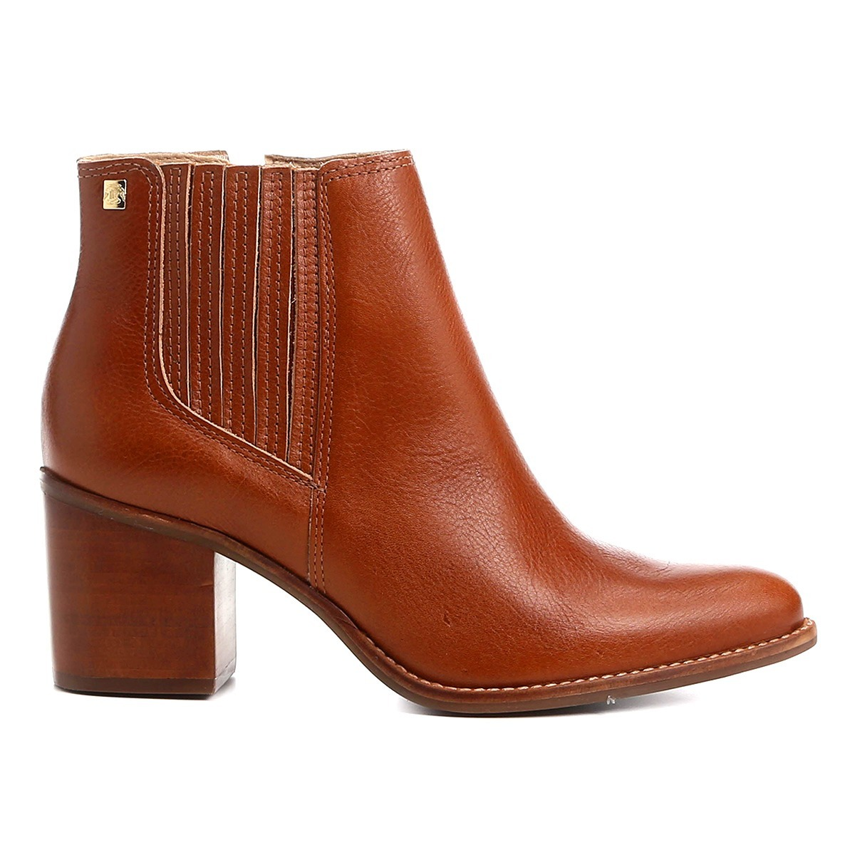 ca6396ebec bota cano curto loucos   santos na cor caramelo - 510710. Carregando zoom.