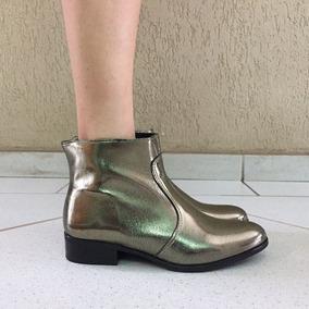 ccfddcde1 Bota Feminina Cano Curto Prata Envelhecido Via Uno Feminino - Calçados,  Roupas e Bolsas com o Melhores Preços no Mercado Livre Brasil
