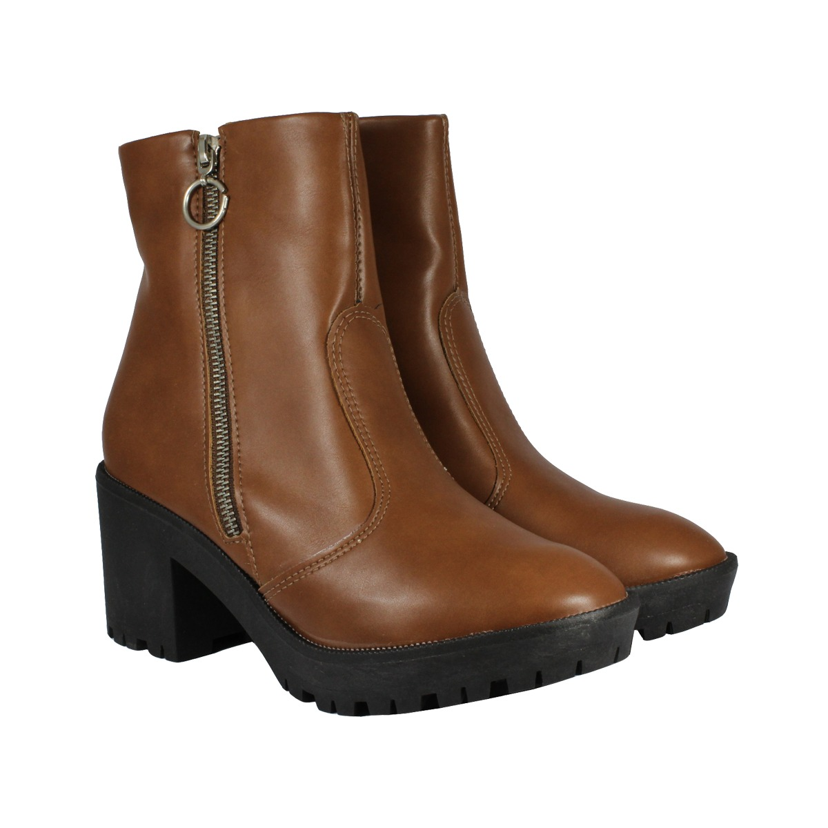 42f7a5858 bota cano curto tratorada conhaque akazzo feminina. Carregando zoom.