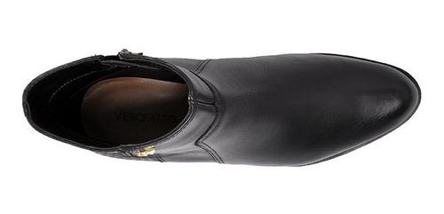 bota cano curto verofatto couro 6014101-10 preto