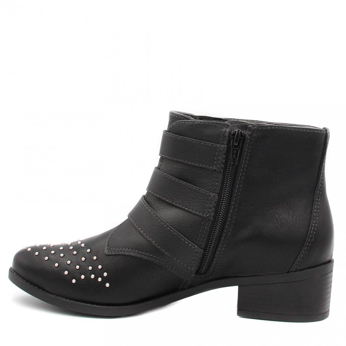 0f2deb33c9764 Bota Cano Curto Via Marte Ankle Boot Preto 18-4603