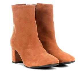 a7f5fd781 Bota Caramelo Cano Curto Botas Via Uno - Sapatos no Mercado Livre Brasil