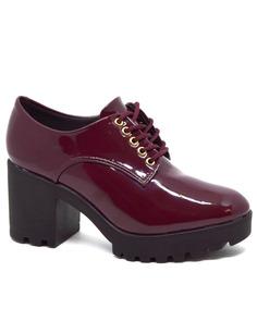 26cf5ad06f2 Bota Envernizada Vizzano - Sapatos com o Melhores Preços no Mercado Livre  Brasil