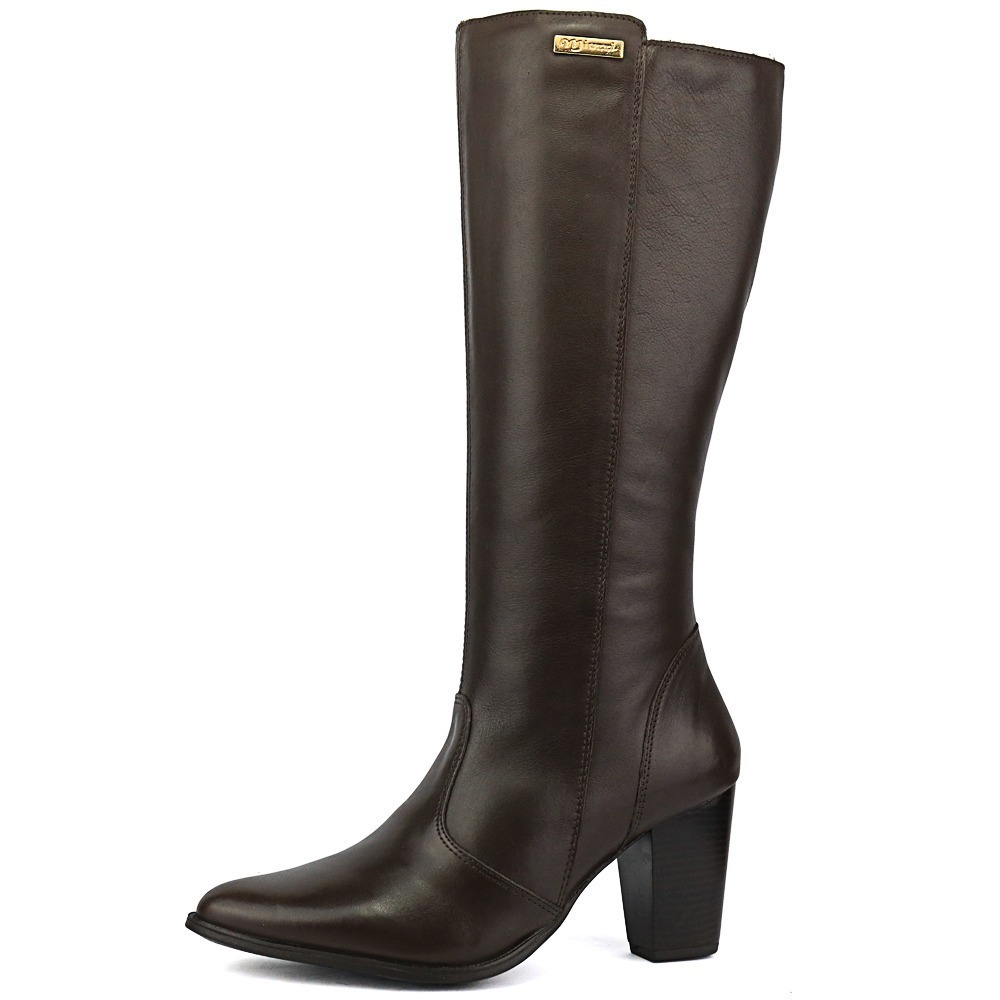 ac577e9bc14 bota cano longo café alta qualidade moderna casual moda 2018. Carregando  zoom.