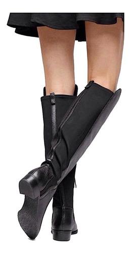 bota cano longo feminina preta montaria capodarte over knee