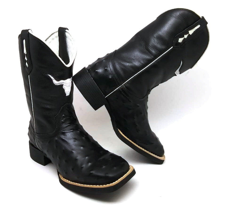 bota cara de touro texana country 7estrivos estilo avestrruz. Carregando  zoom. 1387b3a1853