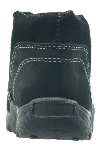 bota casual de niño marca mores  nobuck negro 974