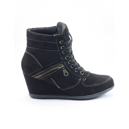 bota casual durazno negro marca mejillitas