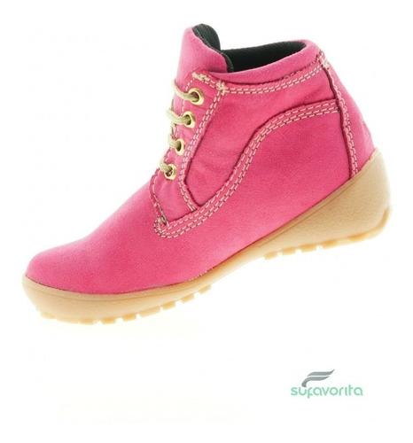 bota casual para niña nobuck rosa marca kobalto