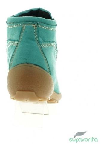 bota casual para niña nobuck verde marca kobalto