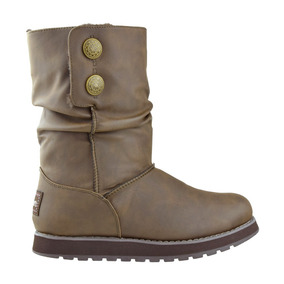 Bota Casual Skechers Keepsakes Leatherette Brown Toto