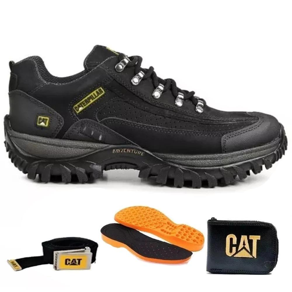 f9137607e6 bota cat caterpillar +carteira+cinto coturno cano baixo. Carregando zoom.