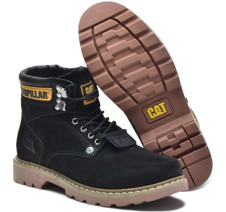 276761a1af Coturno Bota Caterpillar Sapato Masculino Em Couro Original - R  108 ...