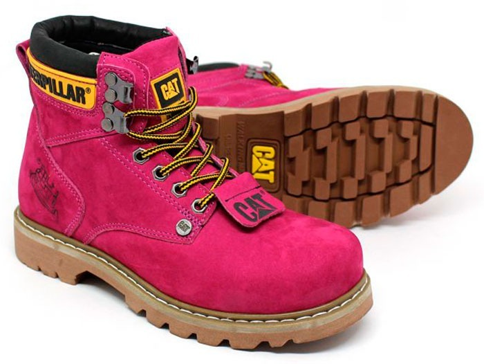 e7474933e0197 Bota Caterpillar Second Shift Boot Rosa/pink Feminina - R$ 159,00 em ...