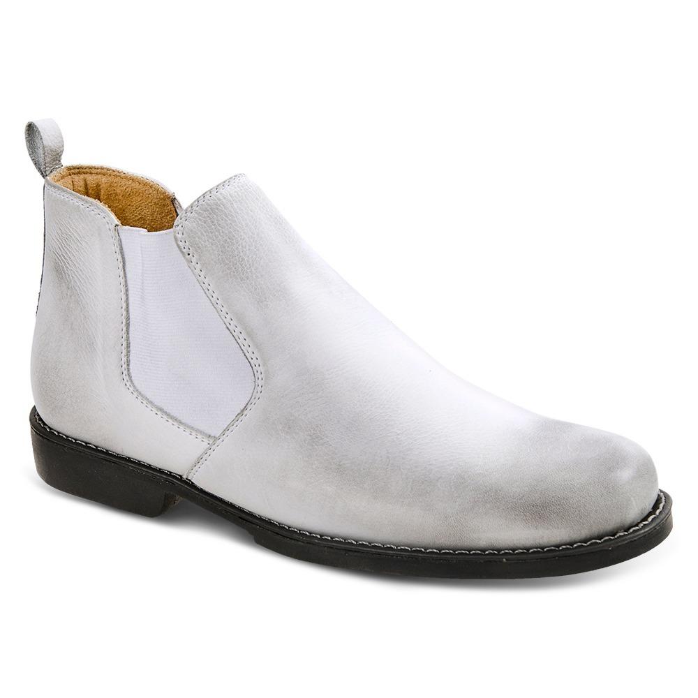 bota chelsea masculina sandro moscoloni all white. Carregando zoom. 84f67dc77802e