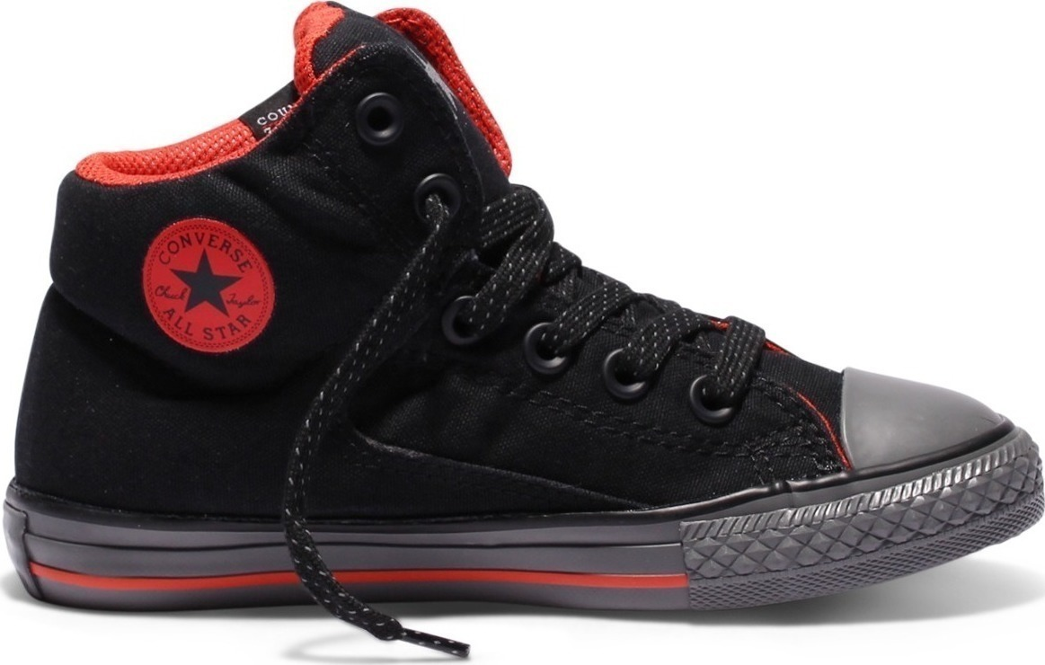 converse all star rojos con negro