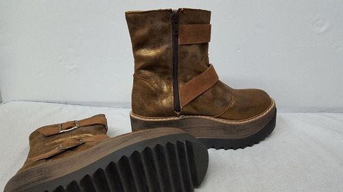 bota corta plataforma calzado mujer invierno2017 stampa woma