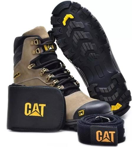 bota coturno adventure caterpillar em couro 130% off kit cat