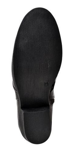bota coturno barato femininos couro cano curto 5050