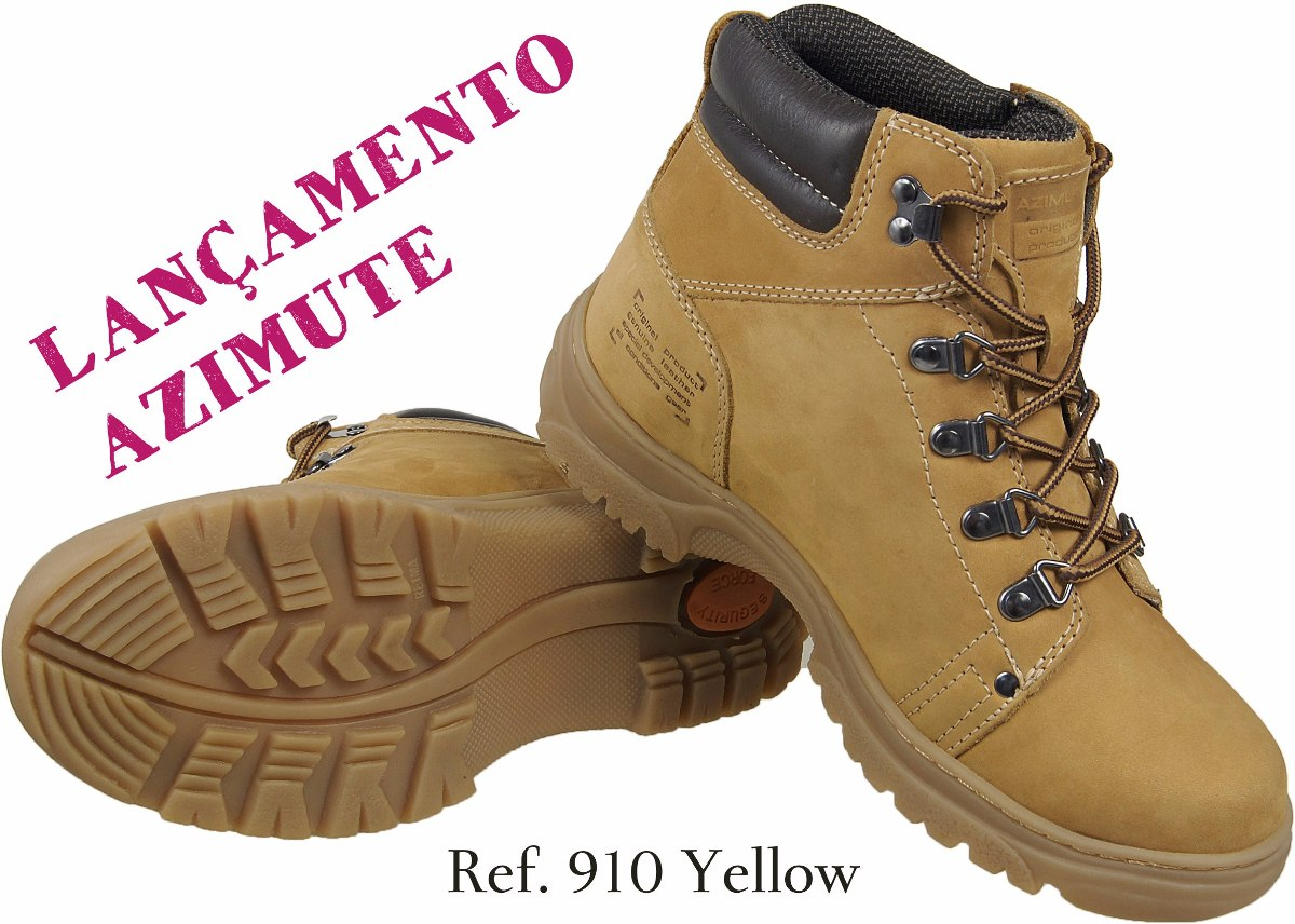 acac07459 Bota Coturno Boot Amarela Mostarda 100% Couro Solado Latex - R$ 189 ...