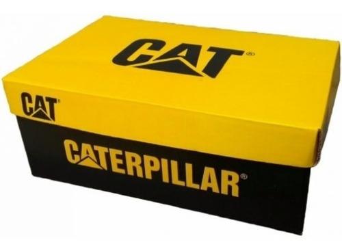 bota coturno botina original caterpillar + kit brindes ofert