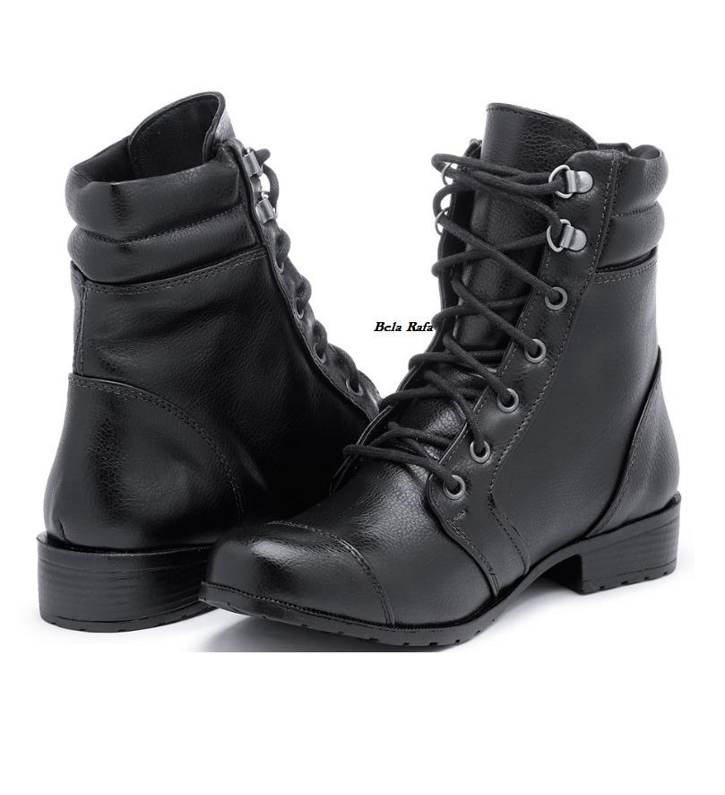 1a60628972 bota coturno botinha bota militar motoqueiro feminina luxo. Carregando zoom.